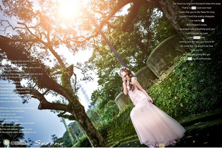 【創意自助婚紗寫真】- 單人- 婚紗宣言