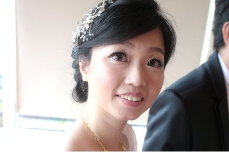 婚宴新娘造型作品-6(及肩短髮作品)