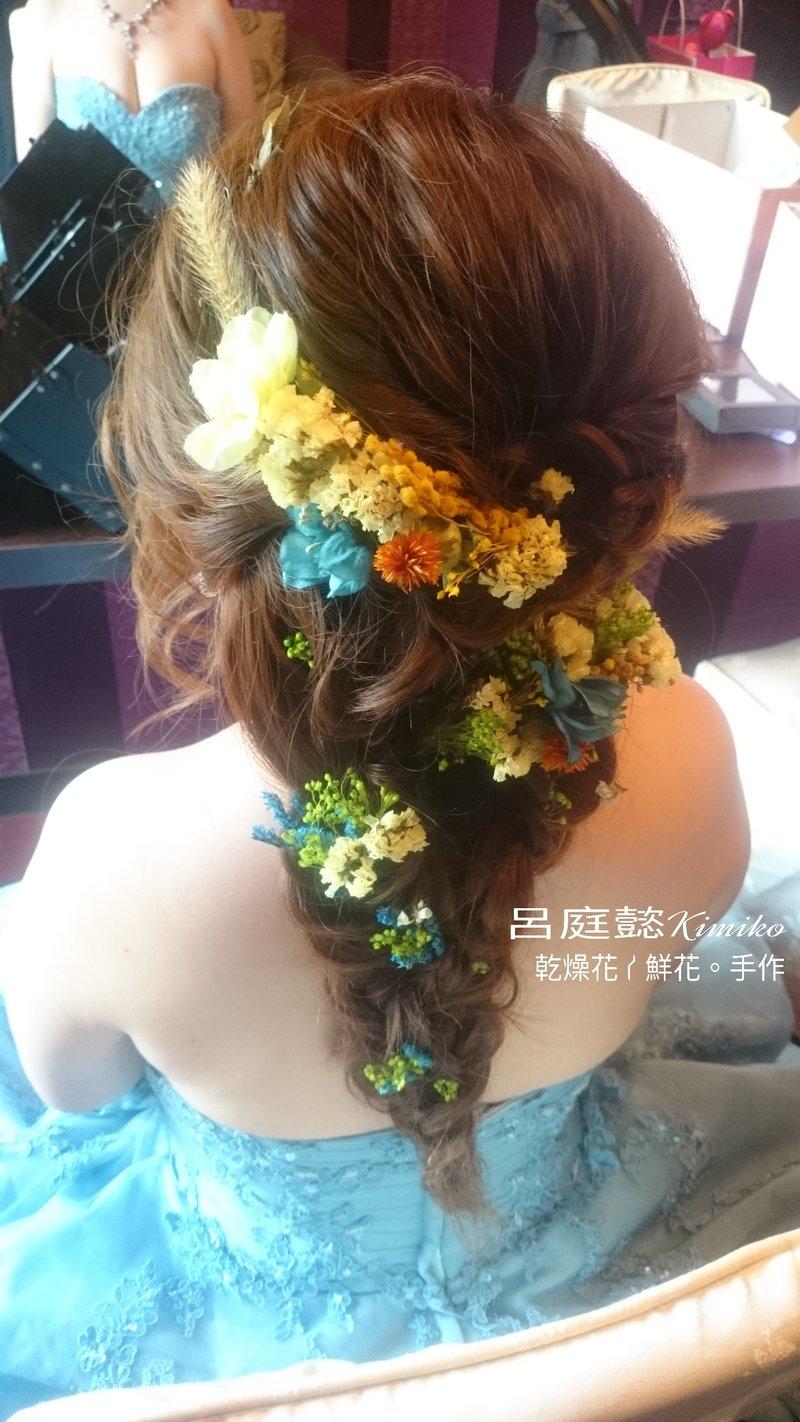 新娘秘書-鮮花/乾燥花手作整體造型作品