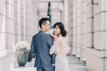 Zone + Christine Engagement / 美式婚紗 / 自助婚紗 / 台中婚紗推薦 / 香檳蕾絲
