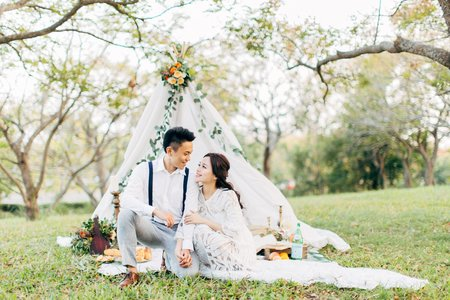 美式婚紗|Andy+Enid Engagement |自助婚紗 -Fine Art Engagement - 美式婚禮 -台中婚紗