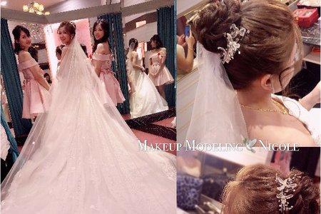 夢幻蕾絲(奕琳)白紗造型
