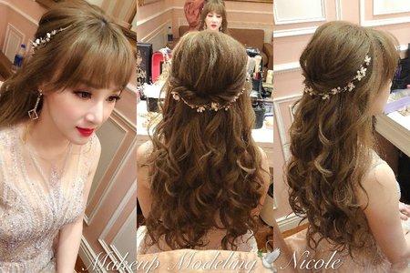 浪漫輕線條(啟芳)捲髮造型