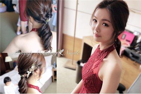 韓風新娘(文婷)低馬尾造型