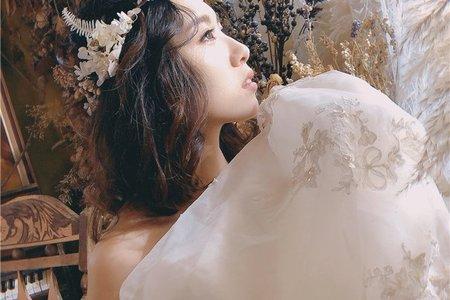 【婚紗造型】清新短髮花系列