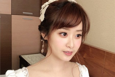 【證婚造型】韓系蒙頭帽盤髮
