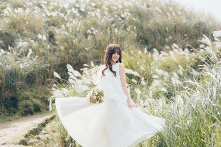 輕婚紗 芒草的季節