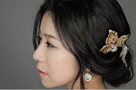 韓系浪漫低盤髮