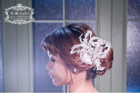 韓系簡約盤髮