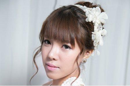 韓系氣質盤髮