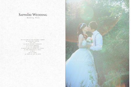 晨光第一道摺痕-紗法亞Sapphire wedding婚紗相本