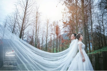 清晨的童話森林散發著溫熱的記憶-紗法亞精品婚紗sapphire wedding