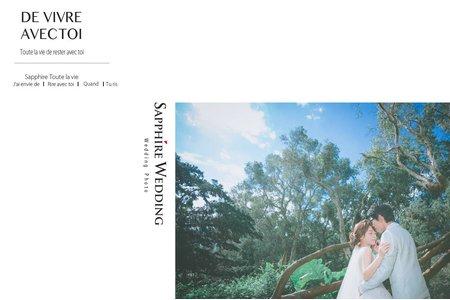 紗法亞Sapphire wedding 婚紗相本-幸福客樣愛開在某個角落