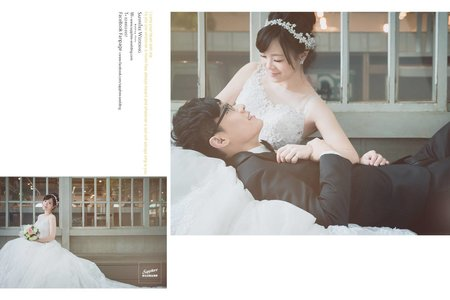 陽光偃臥在廊道-紗法亞精品婚紗sapphire wedding婚紗相本