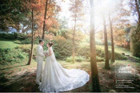 徐風微微吹在臉上溫醇心動-紗法亞Sapphire wedding 婚紗相本