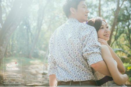 暖陽伴隨著風輕拂臉頰-紗法亞精品婚紗sapphire wedding婚紗相本