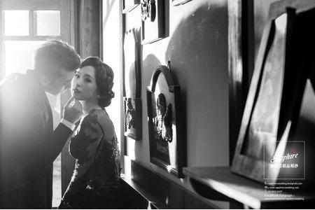 朦朧的瞬間屬於我們的現代復古-紗法亞精品婚紗sapphire wedding
