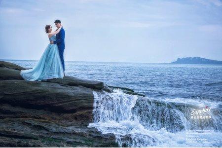 游在金光裡-紗法亞精品婚紗sapphire wedding