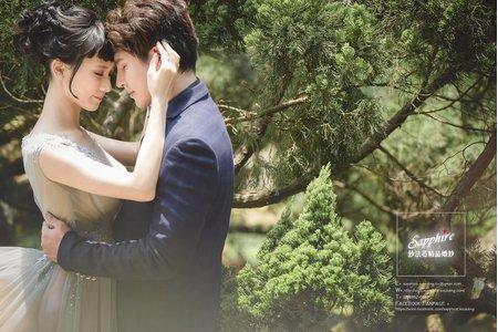 互相照耀-紗法亞Sapphire wedding婚紗相本作品
