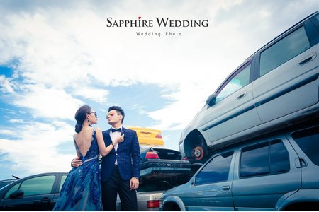走進一場愛情風暴-紗法亞Sapphire wedding婚紗相本