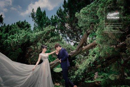 互相照耀 /紗法亞Sapphire wedding婚紗相本作品