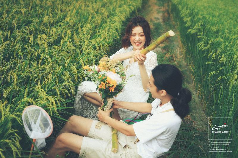 田野風婚紗照