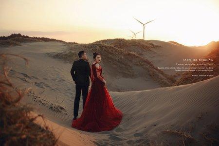 雜誌風格婚紗[沙漠系列] /紗法亞精品婚紗Sapphire Wedding