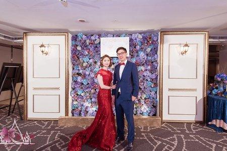 台北晶華婚佈 紫花牆木板款(B1)
