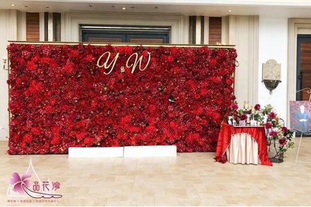 宜蘭香格里拉婚佈 全版紅花牆