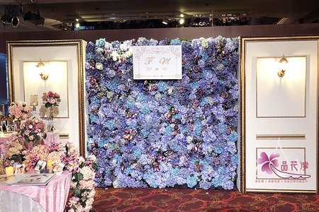 汐止富信婚佈 紫花牆木板款