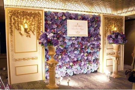 台北晶華婚佈 紫花牆木板款