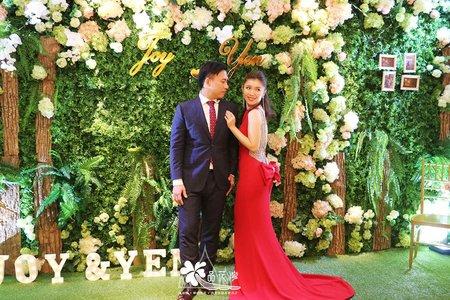 台北市國賓婚佈 綠植木板花牆款