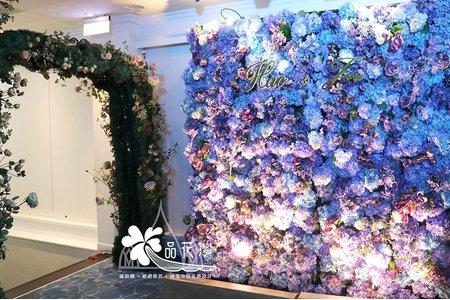 台北林口婚佈紫色花牆加拱門款
