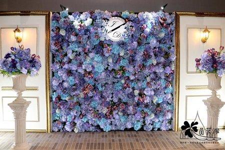 台北板橋希爾頓紫色花牆木板款加拱門