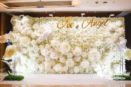 台北國賓婚佈 全版白色系大花