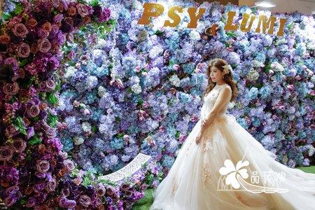 台北維多利亞婚佈(1F) 全版紫花牆