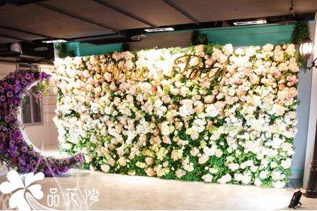 台北88樂章婚佈 全版淺粉花牆
