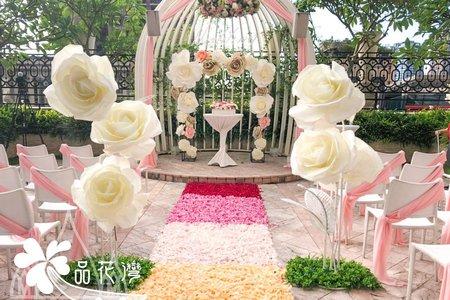 台中林酒店 大理石大花拱門+戶外證婚
