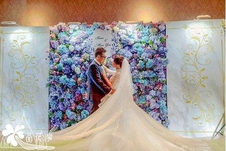 新竹彭園 紫色花牆輸出板