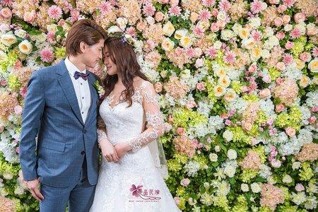 台北青青婚佈 全版淺粉花牆