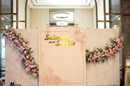 婚禮佈置,花牆,花藝設計,萬豪
