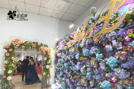 板橋永安活動中心 全版紫色花牆
