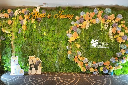 晶華酒店  客製綠植圓形花牆
