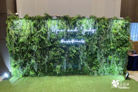 台中萊特薇庭 全版綠植牆