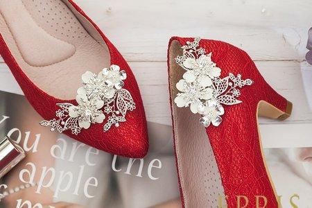 一生幸福櫻花雪飾扣鞋夾-EPRIS艾佩絲