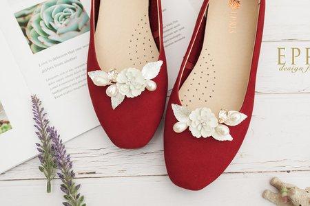 愛與約定梔子花飾扣鞋扣 -EPRIS艾佩絲