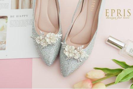 濃情幸福小蒼蘭飾扣鞋扣 -EPRIS艾佩絲