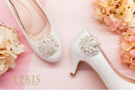 銀河系立體珍珠水鑽花飾扣鞋扣 -EPRIS艾佩絲