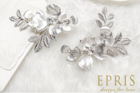 銀色聖誕水鑽花婚鞋推薦飾扣鞋扣飾品