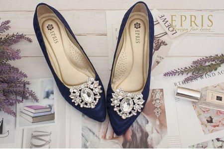 愛心水鑽鞋扣鞋夾配飾-EPRIS艾佩絲